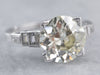 Art Deco GIA Certified Old European Cut Diamond Ring