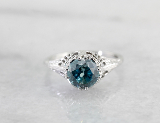 RESERVED Icy Lace, Blue Zircon Islington Ring by Elizabeth Henry, 6LVP4T