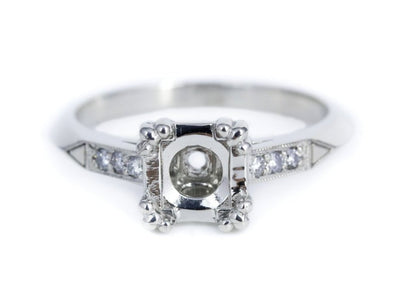 The Shapleigh Setting Semi-Mount Engagement Ring by Elizabeth Henry