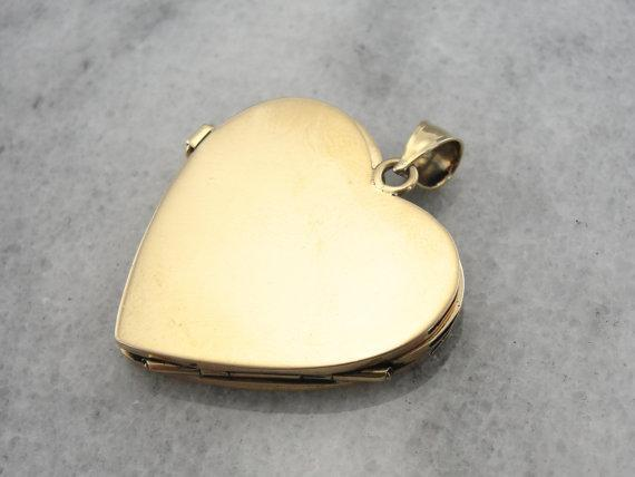 Large Gold heart Locket for Multiple Photos