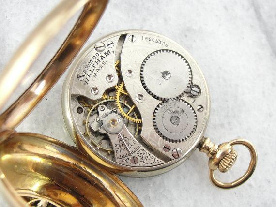 Gold Waltham Pocket Watch Circa 1908