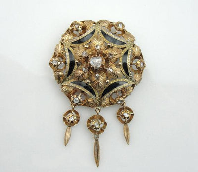 Victorian Pin with Rose Cut Diamonds