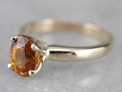 Sunset Sapphire Solitaire Ring