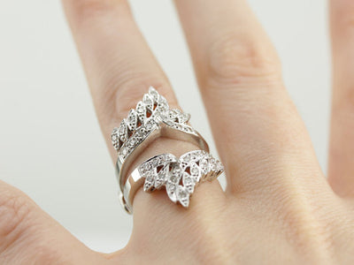 Diamond Studded Solitaire Enhancer Cocktail Ring