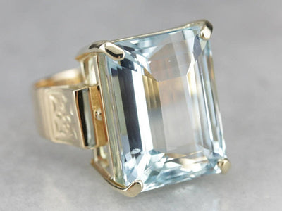 High Quality Aquamarine Cocktail Ring