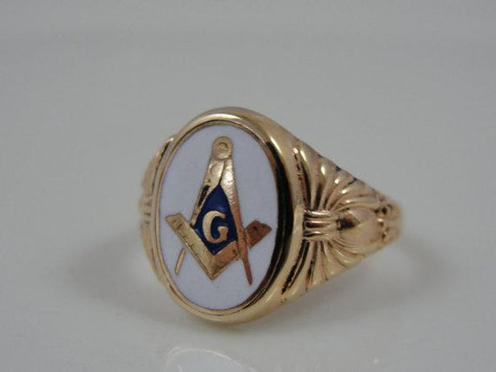 10k Gold Victorian Masonic Ring