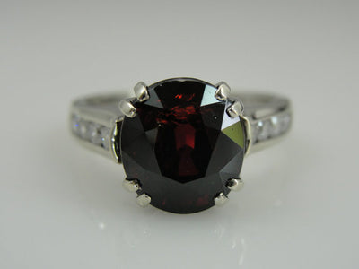 Rhodolite Garnet and Diamond Ladies Ring
