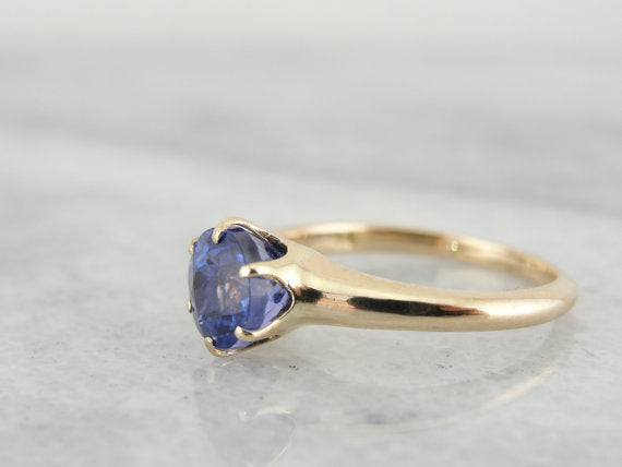 Victorian Tanzanite Solitaire Engagement Ring