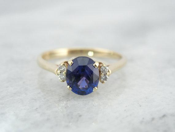 Purple Sapphire from Old Ceylon in Ring