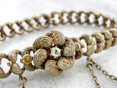 Antique Victorian Gold and Diamond Lover's Knot Bracelet