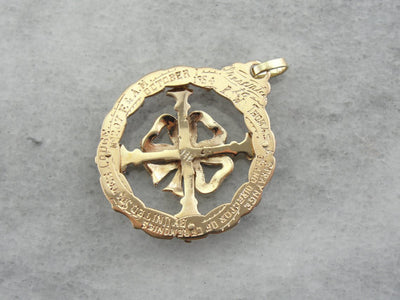 Rosy Yellow Gold Antique Mason Medal