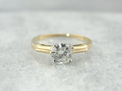 Simple Engagement Ring from the Retro Era