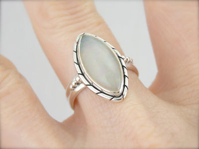 Glittering Ethiopian Opal Ladies Cocktail Ring