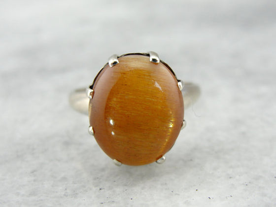 Outstanding Sunstone Vintage Cocktail Ring