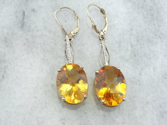 Luscious Sunset and Amber Shaded Citrine Earrings