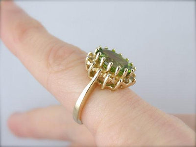 Peridot and Citrine Cocktail Ring