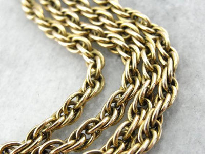 14K Yellow Gold Twist Chain