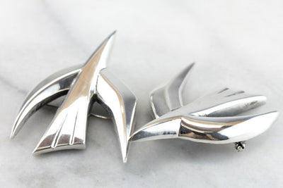 The Dove of Piece; vintage Sterling Silver, Mid Century Brooches by James Avery