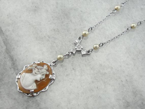 Art Deco Cameo Necklace