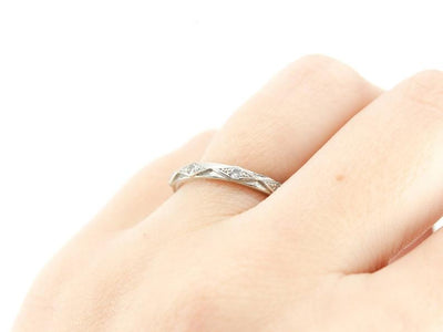 The Sofie Diamond 14K White Gold Band by Elizabeth Henry