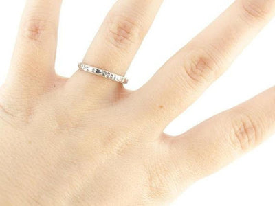 The Marjorie 14K White Gold Band by Elizabeth Henry