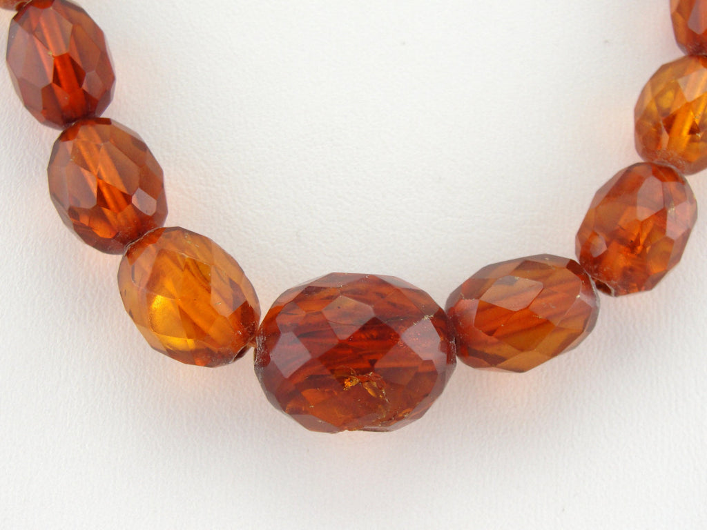 Antique Victorian Graduated Amber Bead Necklace
