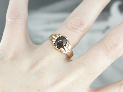 Ethereal Spectrolite Cat's Eye Gold Ring