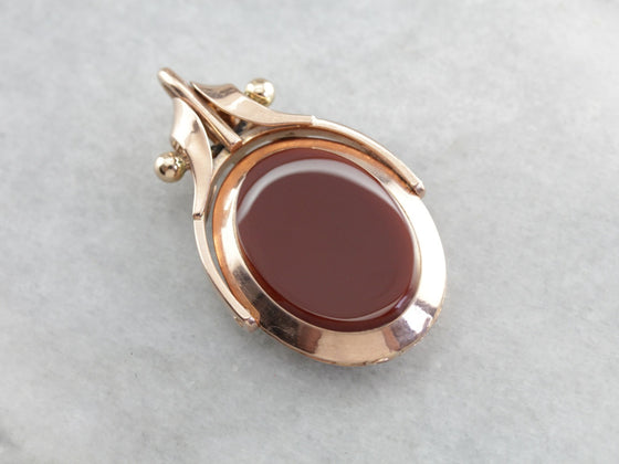 Victorian Dual Sided Rose Gold Locket