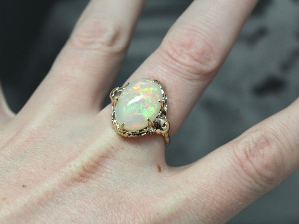Vintage Opal Gold Cocktail Ring