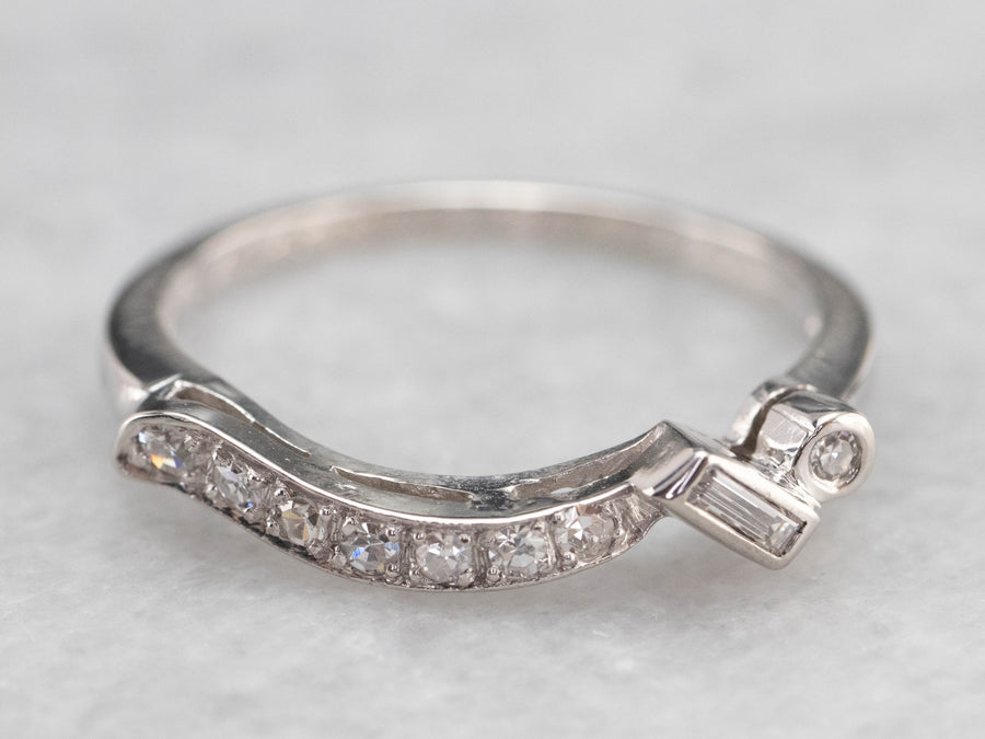Platinum Retro Era Diamond Band