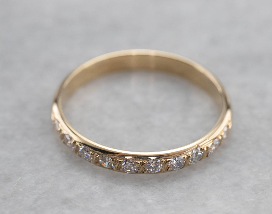 Vintage Gold and Diamond Wedding Band