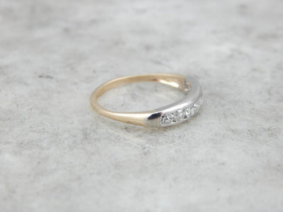Gleaming White Gold and Diamond Wedding Band