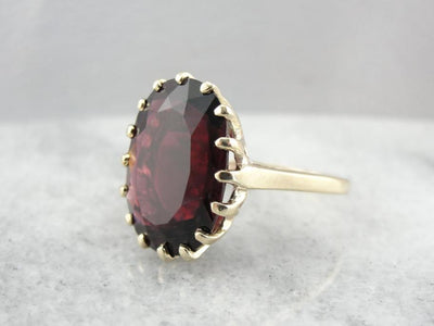 Incredible Blood Red Ten Carat Tourmaline Gemstone Cocktail Ring