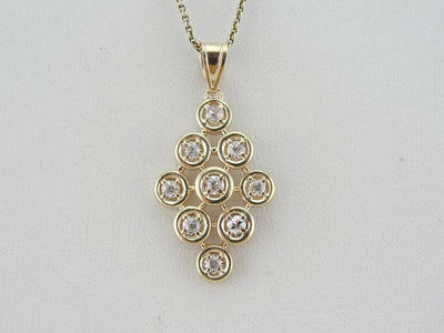 Vintage Organic Structure Style Diamond Cluster Pendant