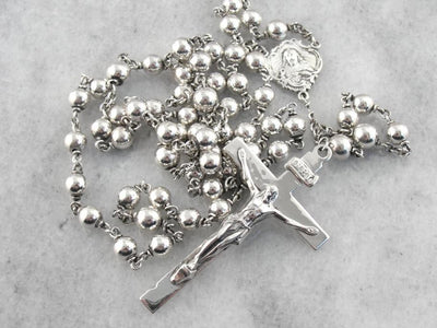 Sterling Silver Rosary with Classic Style