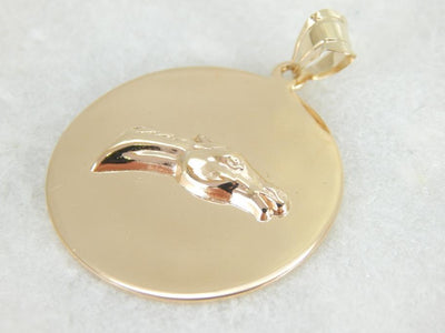 Vintage Racehorse, Winners Circle Medal in Gold