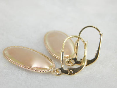 Rose Gold Earrings with Sophisticated Milgrain Edging