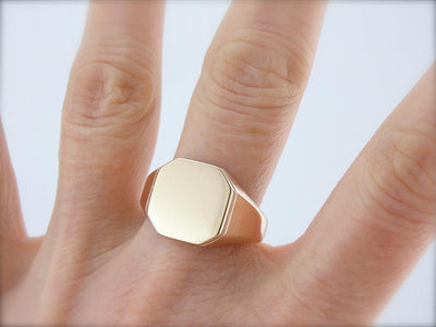 Handsome Signet Ring in Yellow Gold