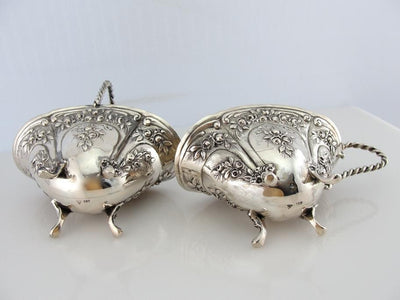 Antique Coin Silver Sugar and Creamer Set, Tea Set
