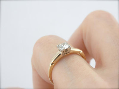 Refined Vintage Engagement Ring with Excellent Diamond
