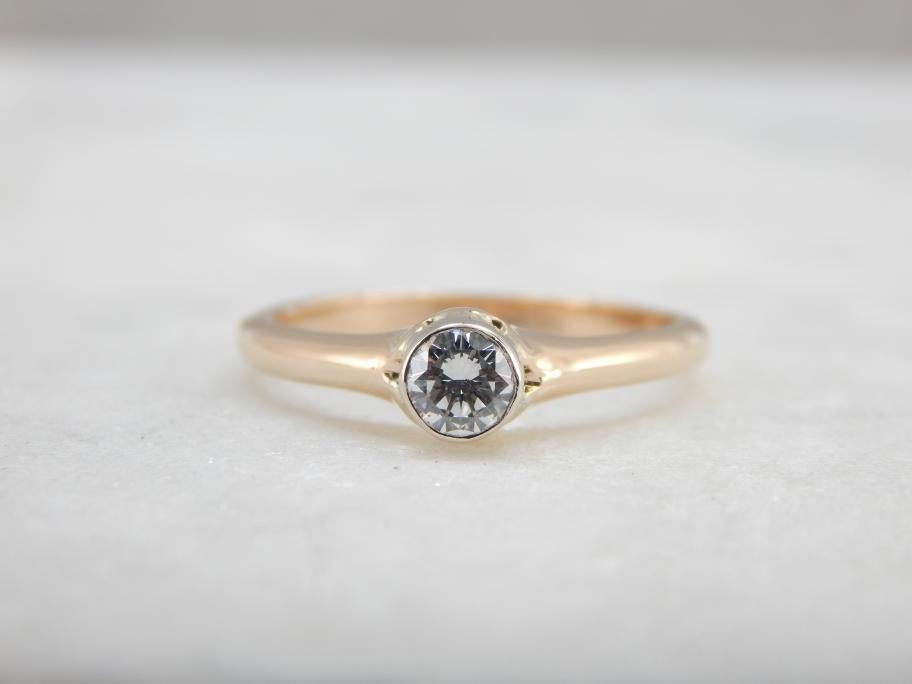Updated Vintage Gold and Diamond Engagement Ring
