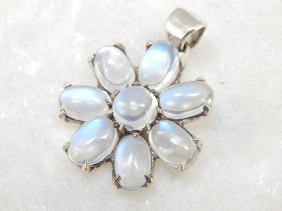 True Moonstone Pendant with Fine Gems