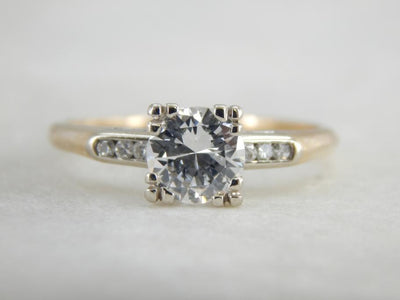 Exceptional One Carat Diamond Retro Era Engagement Ring
