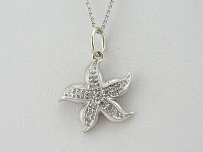 Diamond and White Gold Seastar Pendant