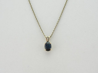 Simple Sapphire in Yellow Gold Pendant