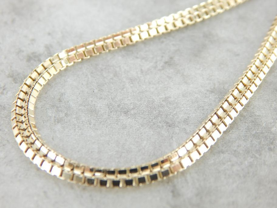 Gorgeous and Versatile Yellow Gold Flat Necklace Chain