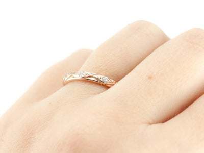 The Sofie Diamond 14K Rose Gold Band by Elizabeth Henry