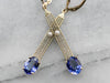 Our Finest Tanzanite and Pearl Filigree Drop Earrings