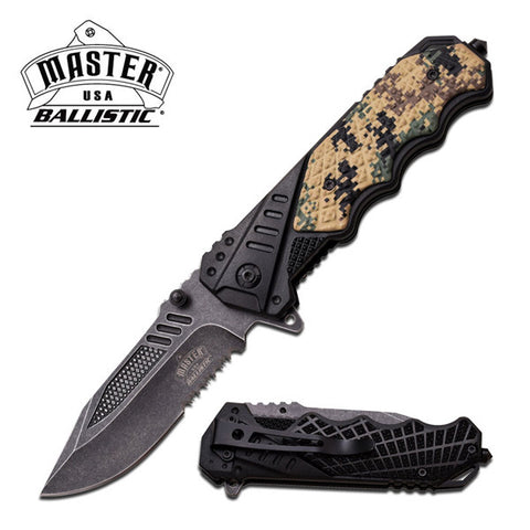 Stonewash Outdoors Spring Assist Knife Case Aluminum Digi Camo (Master USA)