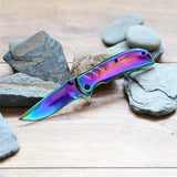 Titanium Coated Spring Assist Knife Speedster Model Fade (TAC-Force)